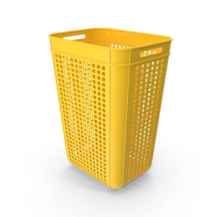 Большой желтый пластиковый ящик