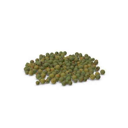 Granos de pimienta verde