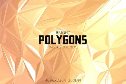 Helle Polygone Hintergründe