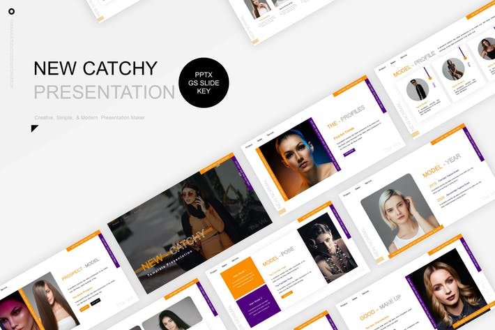 Thumbnail for New-Catchy Presentation Template