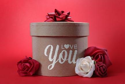 Romantic gift mockup