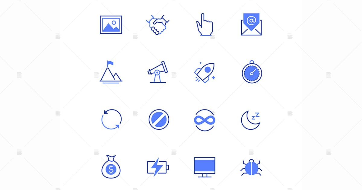 Download Business and safety - line design style icons set by BoykoPictures