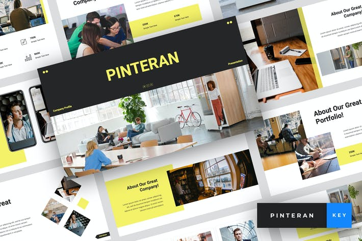 Thumbnail for Pinteran - Company Profile Keynote Template