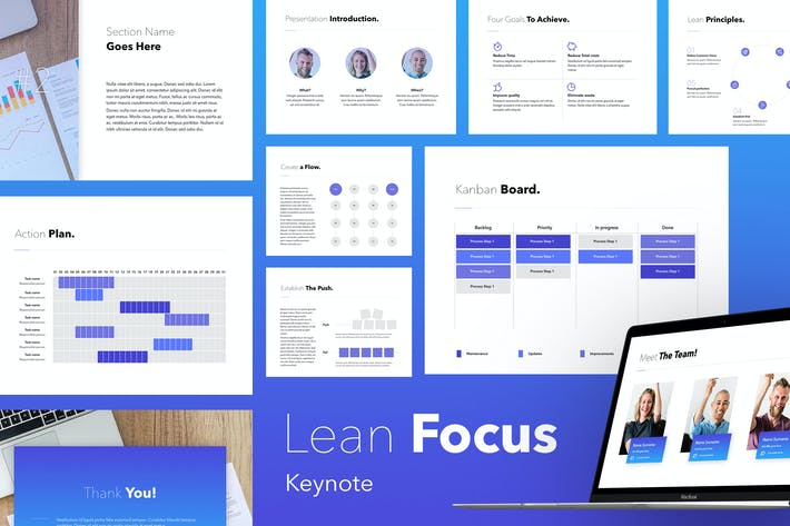 Thumbnail for Lean Focus Keynote Template