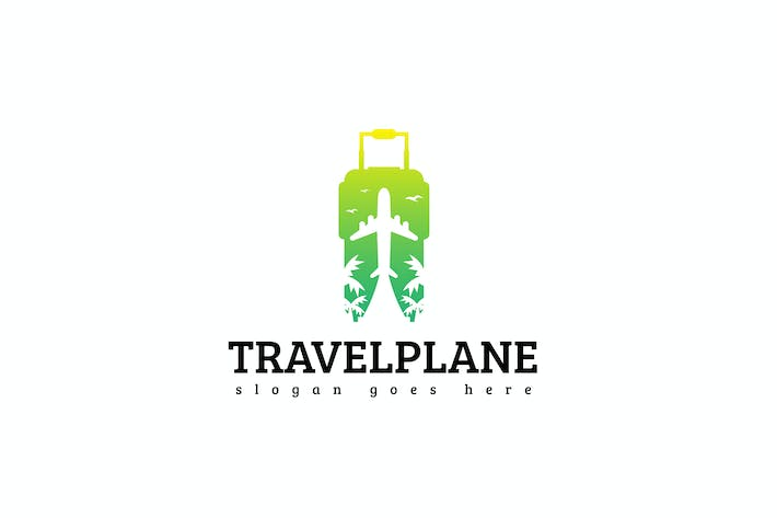 Thumbnail for Travel Plane Logo Template