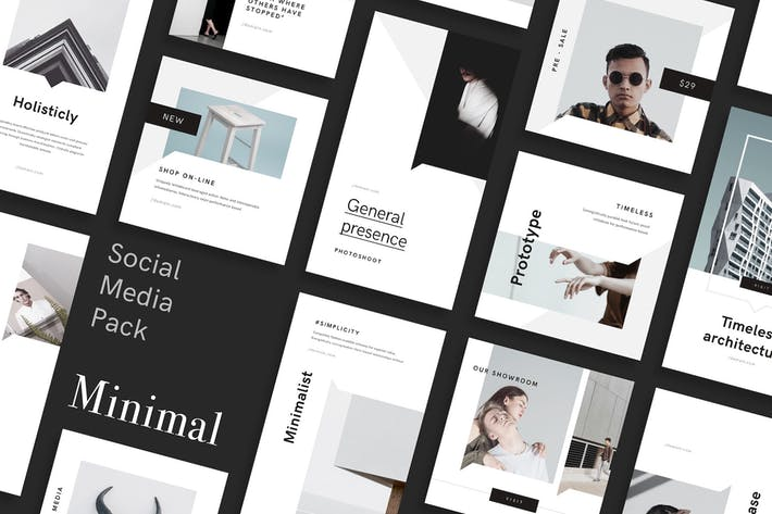 Cover Image For Minimal PSD Social Media Pack