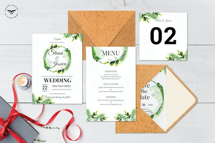 Thumbnail for Wedding Invitation Template Pack