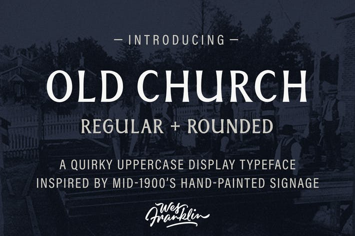Thumbnail for Old Church - Serif Display Font