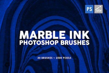30 Pinceles Tinta mármol Photoshop Vol. 3