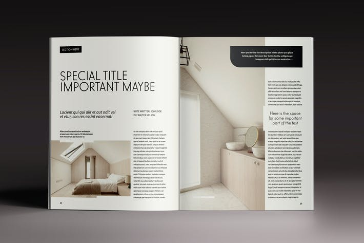Thumbnail for Design Magazine Indesign Template