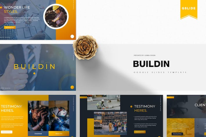 Thumbnail for Buildin | Google Slides Template