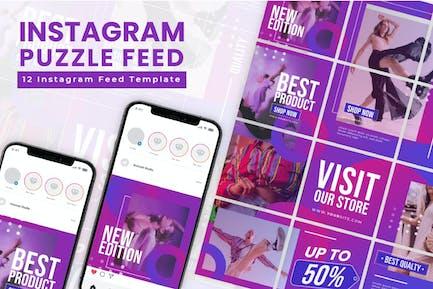 Instagram-Puzzle - Abstufung