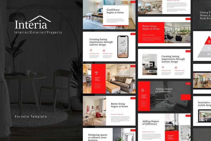 Thumbnail for Interia - Home & Interior Keynote Template