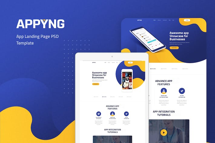 Thumbnail for Appyng - App Landing Page PSD Template