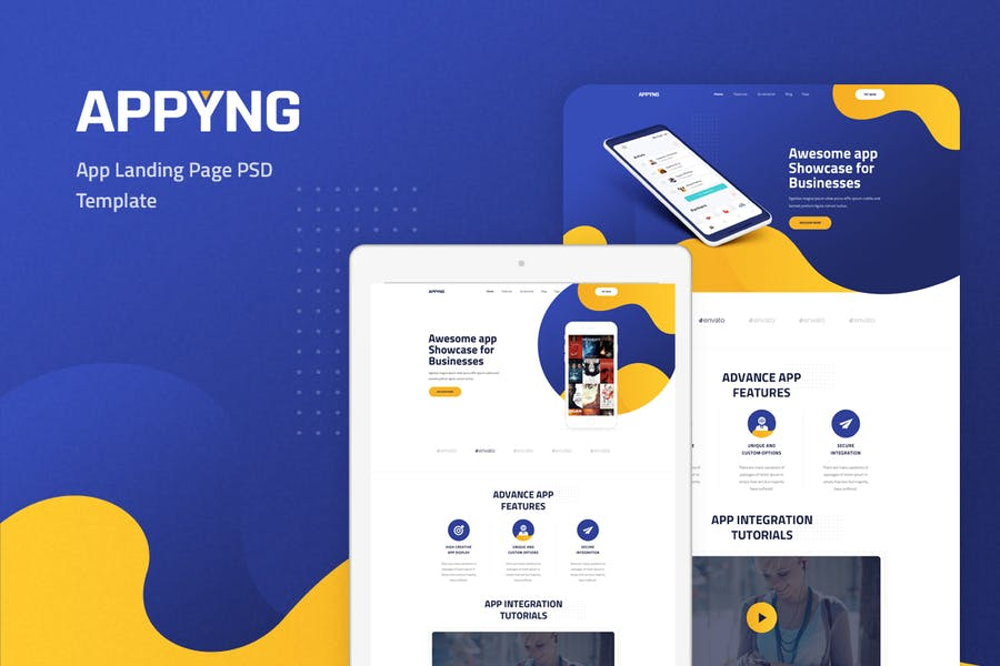Appyng - App Landing Page PSD Template