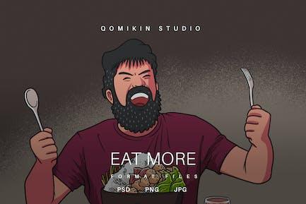 Eat More Illustration