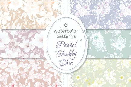 Shabby Chic Waterolor Floral Patterns
