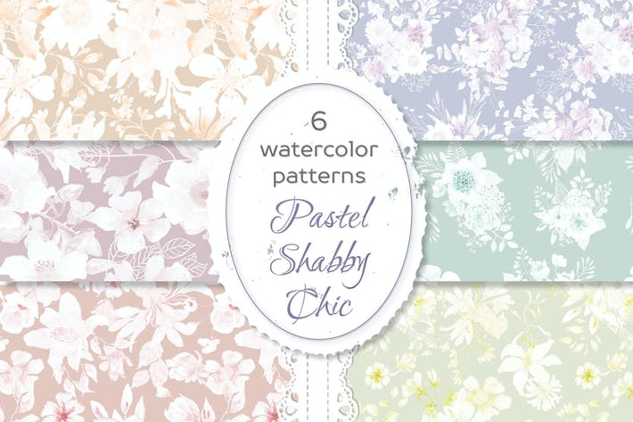 Thumbnail for Shabby Chic Waterolor Floral Patterns