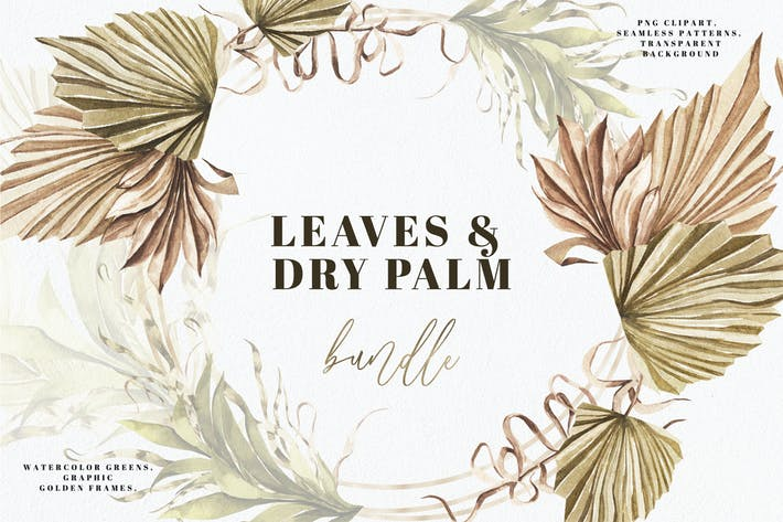 Thumbnail for Greenery & Dry Palm Leaves
