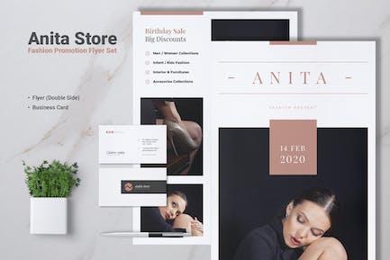 ANITA Fashion Store Flyer & Business Card