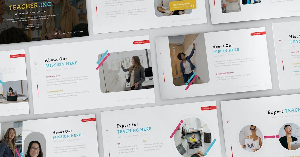 Download Teacher.Inc Powerpoint Presentation Template by Formatika