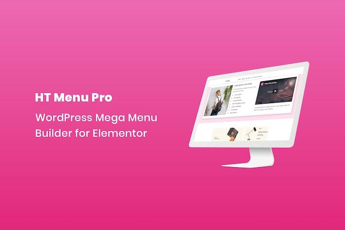 Thumbnail for HT Menu Pro – WordPress Mega Menu Builder for Elem