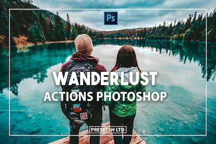 Страсть к путешествиям Photoshop