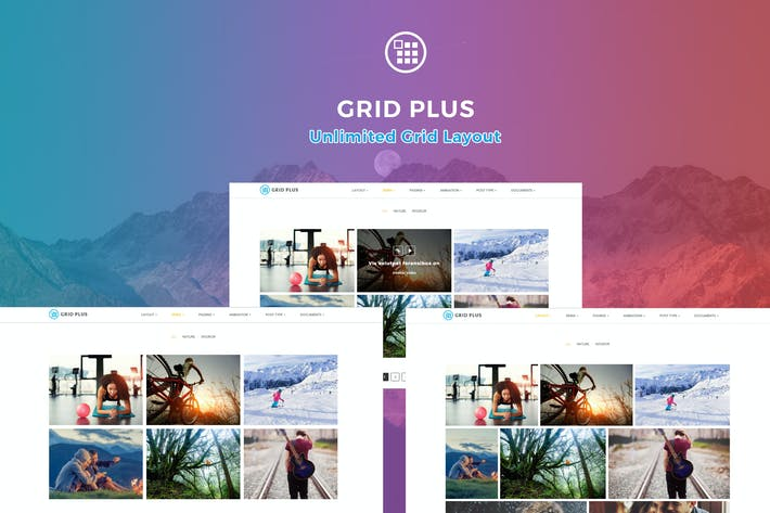 Thumbnail for Grid Plus - Unlimited Grid Layout