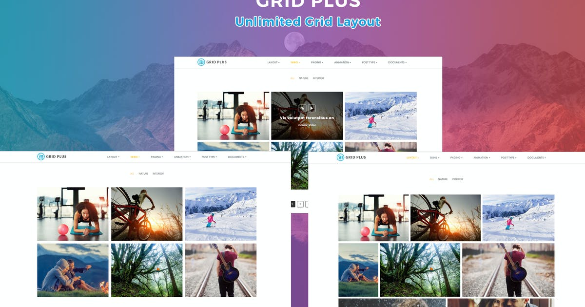 Download Grid Plus - Unlimited Grid Layout by G5Theme