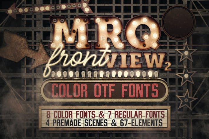 Thumbnail for Marquee Front View - Color Fonts