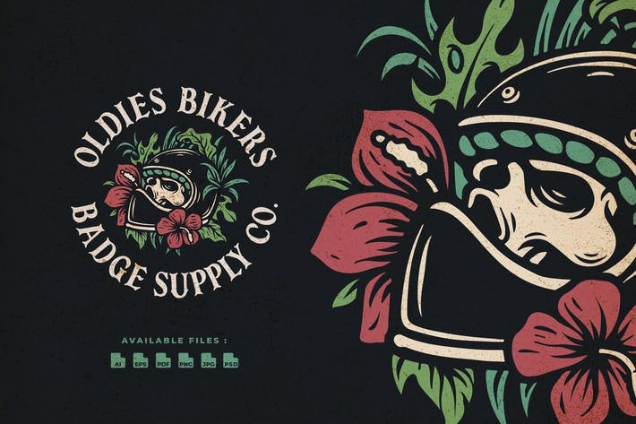 Thumbnail for Oldies Bikers Hand Drawn Logo