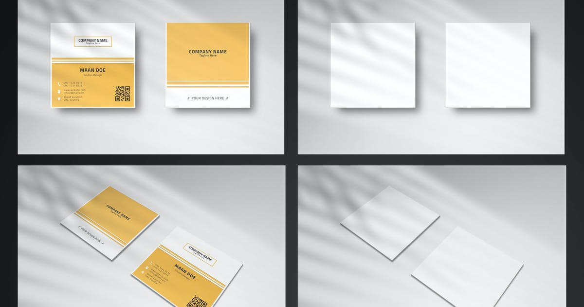 Download Square Business Card Mockup by erdp