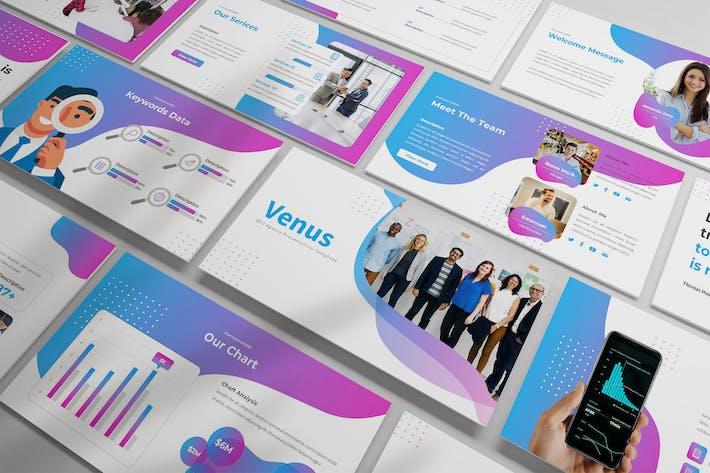 Thumbnail for Venus - SEO Analysis Powerpoint Template