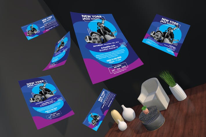 Music Event Flyer and Social Media Pack Template