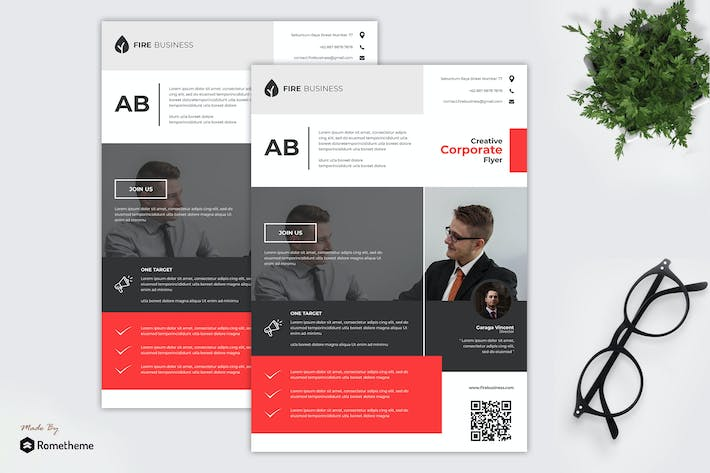 Cover Image For Fire Business - Flyer Template TS