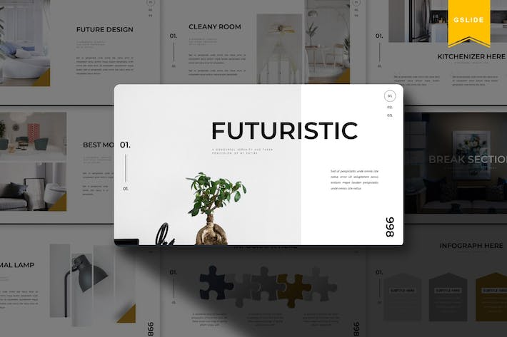 Thumbnail for Futuristic | Google Slides Template