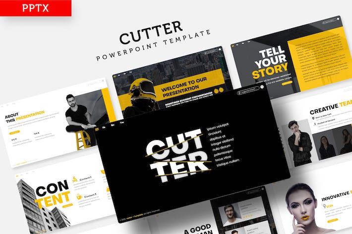 Thumbnail for Cutter - Powerpoint Template