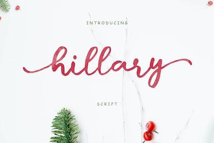 Hillary Script + Webfonts