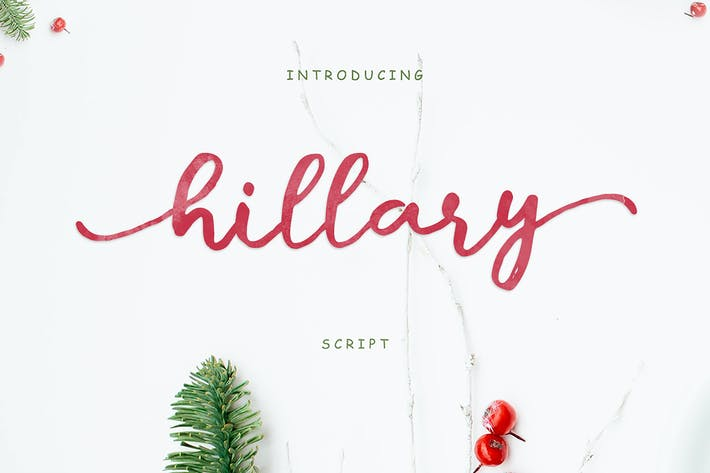 Thumbnail for Hillary Script + Webfonts