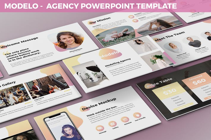 Thumbnail for Modelo - Agency Powerpoint Template
