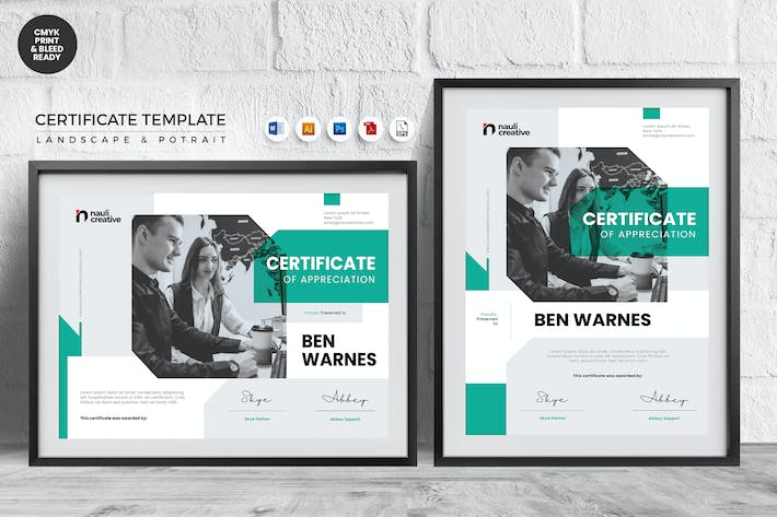 Thumbnail for Professional Certificate Template Vol.38