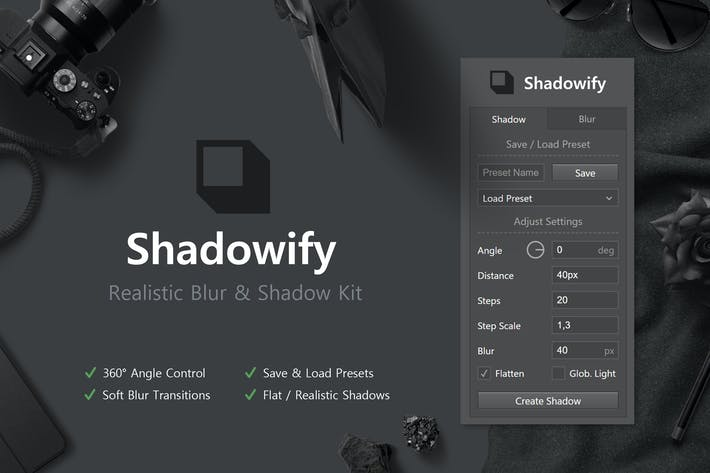 Thumbnail for Shadowify - Realistic Blur & Shadow Kit