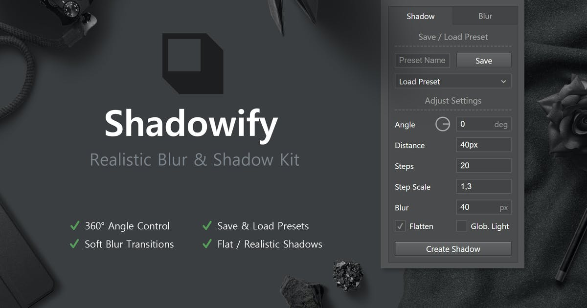 Download Shadowify - Realistic Blur & Shadow Kit by h3-design