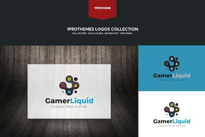 Thumbnail for Gamer Liquid Logo Template