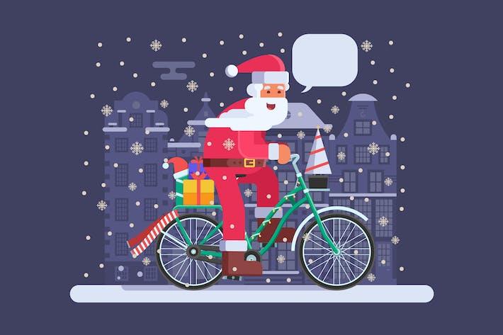 Thumbnail for Christmas Bike with Santa on Amsterdam