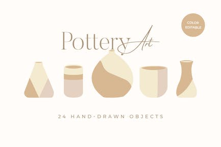 Pottery and Clay Illustration Art