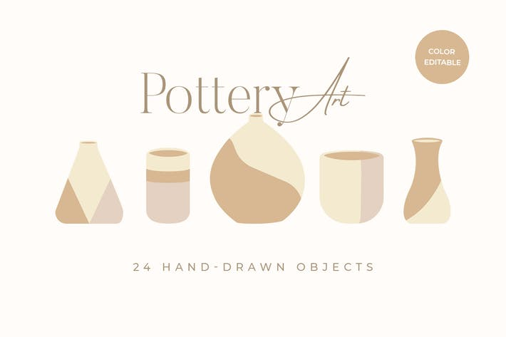 Thumbnail for Pottery and Clay Illustration Art