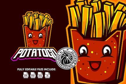 French Fries Potatoe Esport Logo Template