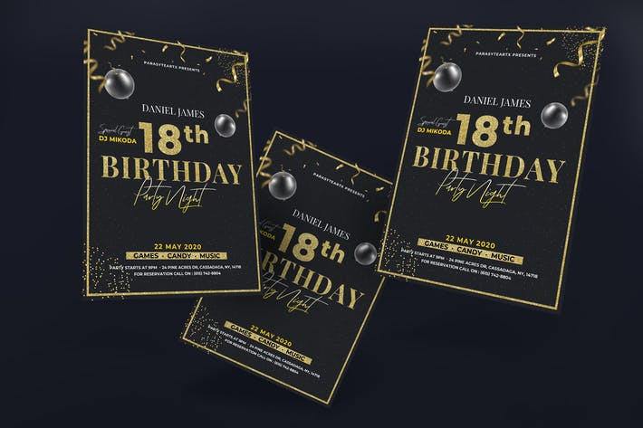 Thumbnail for Poster de fête d'anniversaire