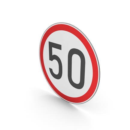 Road Sign Speed Limit 50